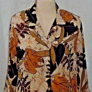 Alfred Dunner 16P Button Up Blouse